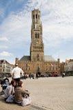 Mercato, Bruges Fotografia Stock