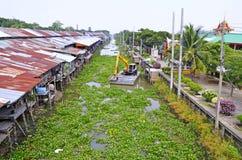 Mercato centenario di Khlong Suan vicino a Bangkok, Tailandia Fotografia Stock Libera da Diritti