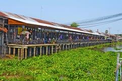 Mercato centenario di Khlong Suan vicino a Bangkok, Tailandia Immagine Stock