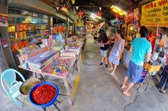 Mercato centenario di Khlong Suan vicino a Bangkok, Tailandia Immagini Stock Libere da Diritti