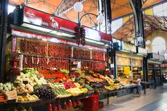 Mercato centrale Hall Budapest Hungary fotografia stock libera da diritti