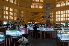 Mercato centrale, Phnom Penh. La Cambogia Fotografie Stock