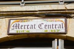 Mercato centrale, Valencia, Spagna Immagine Stock Libera da Diritti