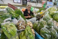 Mercato, Chiang Mai, Tailandia Fotografie Stock Libere da Diritti