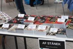Mercato con i libri di fumetti, manga a Animefest Fotografia Stock