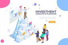 Mercato contemporaneo Concep di investimento virtuale di finanza royalty illustrazione gratis
