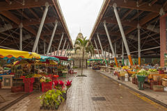 Mercato coperto di Basseterre, Guadalupa immagini stock libere da diritti