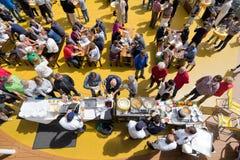 Mercato culinario di Thor Tingfest- alla piattaforma dello stagno a bordo di AIDAsol Immagine Stock