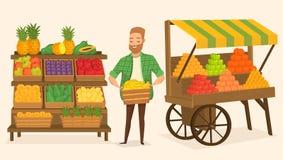 Mercato degli agricoltori Alimento della via Fotografie Stock