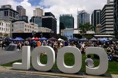 Mercato degli agricoltori della città di Auckland - Nuova Zelanda Immagini Stock Libere da Diritti