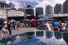 Mercato degli agricoltori della città di Auckland - Nuova Zelanda Fotografia Stock