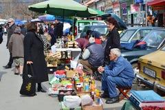 Mercato degli agricoltori di Pirot's Fotografie Stock Libere da Diritti