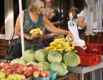 Mercato degli agricoltori di Roanoke Fotografia Stock Libera da Diritti