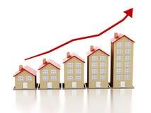 Mercato degli alloggi in aumento Fotografie Stock Libere da Diritti