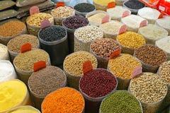 Mercato dei fagioli Immagini Stock