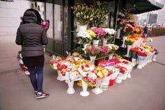 Mercato dei fiori Immagine Stock