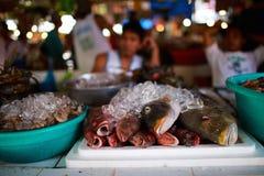 Mercato dei frutti di mare Fotografia Stock Libera da Diritti