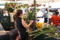 Mercato del fiore di de ` Fiori del campo a Roma, Italia Immagine Stock