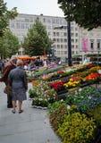 Mercato del fiore a Gand Immagine Stock