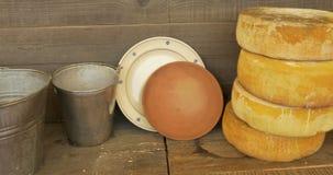 Mercato del formaggio video d archivio