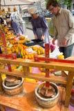 Mercato del formaggio Immagine Stock