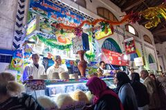 Mercato del formaggio a Tunisi, Tunisia immagine stock libera da diritti