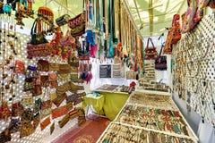 Mercato del hippy dell'isola di Ibiza spain fotografia stock