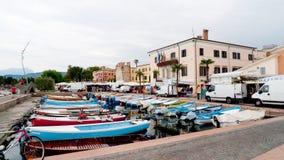 Mercato del lago garda di Bardolino Fotografia Stock