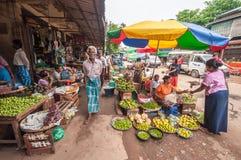 Mercato del Myanmar Fotografia Stock Libera da Diritti