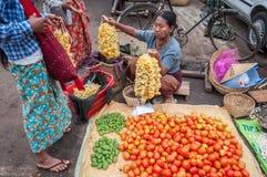 Mercato del Myanmar Fotografie Stock Libere da Diritti