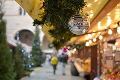 Mercato del Natale fotografie stock