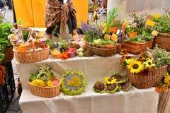 Mercato del raccolto di autunno Fotografia Stock Libera da Diritti