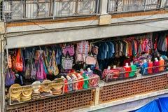 Mercato del ricordo di Ubud, isola di Bali immagini stock