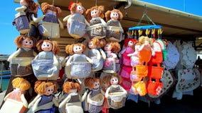 Mercato del ricordo, Marsaxlokk, Malta video d archivio