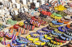 Mercato del ricordo nella capitale di Nairobi, Kenya fotografia stock