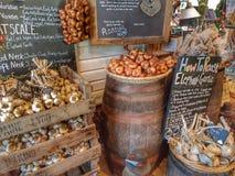 Mercato dell'aglio Fotografie Stock