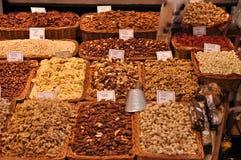 Mercato dell'alimento a Barcellona Immagine Stock Libera da Diritti