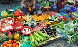 Mercato dell'alimento del Vietnam fotografie stock libere da diritti