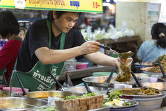 Mercato di Thanin - Chiang Mai - Tailandia Immagini Stock Libere da Diritti