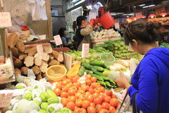 Mercato dell'alimento fresco a Hong Kong Fotografie Stock Libere da Diritti