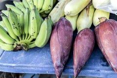 Mercato dell'alimento su Koh Phangan, Tailandia Fotografia Stock