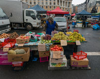 Mercato dell'alimento in Vladivostok Immagine Stock Libera da Diritti