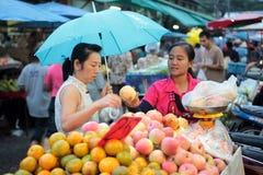 MERCATO DELL'ASIA TAILANDIA CHIANG MAI Fotografia Stock Libera da Diritti