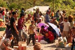 MERCATO DELL'ASIA TIMOR ORIENTALE TIMOR EST AITUTO Fotografie Stock