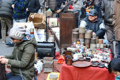 Mercato dell'oggetto d'antiquariato di Tientsin Immagine Stock Libera da Diritti