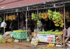 Mercato della banana Immagini Stock Libere da Diritti