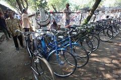 Mercato della bici Fotografia Stock