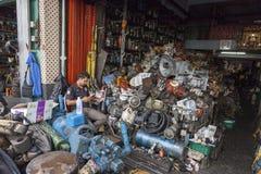 Mercato della ferraglia a Bangkok Fotografie Stock Libere da Diritti