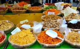 Mercato della frutta secca Fotografia Stock Libera da Diritti