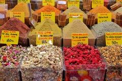 Mercato della spezia a Costantinopoli Fotografia Stock